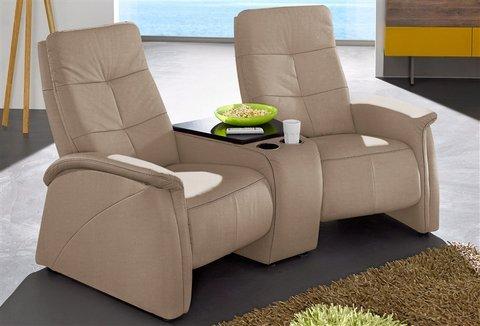 2 Sitzer City Sofa Mit Relaxfunktion Braun Mit Integrierter