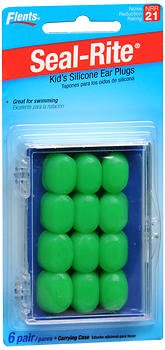 (Flents Seal-Rite Kid's Silicone Ear Plugs - 6 pair, Pack of 2)