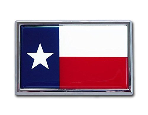 Elektroplate Texas Flag Chrome Auto Emblem ()
