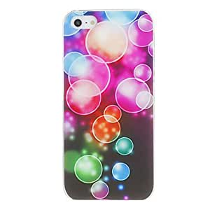 ZXSPACE Dreamy Colorful Bubbles Pattern PC Hard Case for iPhone 5/5S