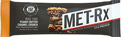 MET-Rx® Big 100 Colossal Peanut Butter Caramel Crunch, 100 gram, 9 count