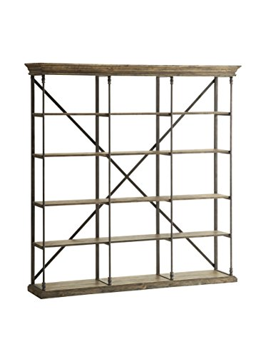 Large Bookcase (Iron Wrought Bookcase Wood And)