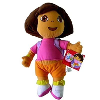 "Nick Jr. Dora the Explorer Large Plush Doll - 13"" Dora Plush: Toys & Games"