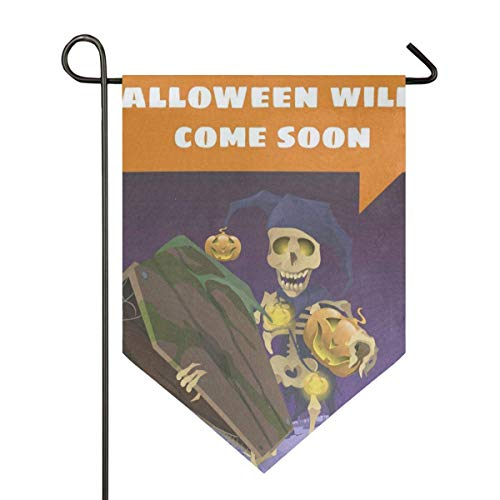IDO Sweet Home Garden Flag Vertical Double Sided Spring Summer Fantastic Halloween Cartoon Outdoor Yard Flags Decorative]()