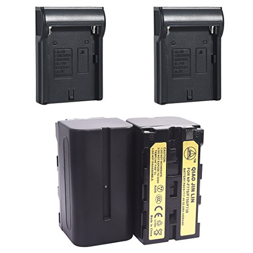 QiaoJL 2x Replacement battery pack for NP-F770 NP-F750 DCR-VX2100 GV-HD700 Camera Camcorder by QIAOJINLIN