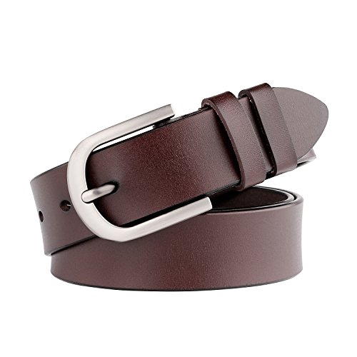 WHIPPY Coffee Genuine Leather Dress Belts for Women Fashion Western Designer Belts,03-coffee,Suit Pant Size 28inch-34inch by Whippy (Image #7)'