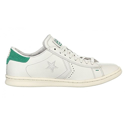 Converse Pro Leather LP Ox, Sneaker a Collo Basso Uomo Bianco (White Dust/B.green)