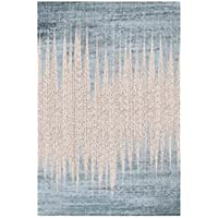 USTIDE European Modern Contemporary Area Rugs Blue and White Watercolor Designer Rugs Living Dining Bedroom Area Carpet 5 2 x7 5(160x230cm)