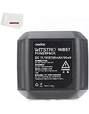 Godox AD600 AD600BM Battery WB87 Li-ion Battery 11.1V/8700 mAh for Godox AD600 AD600BM Flash