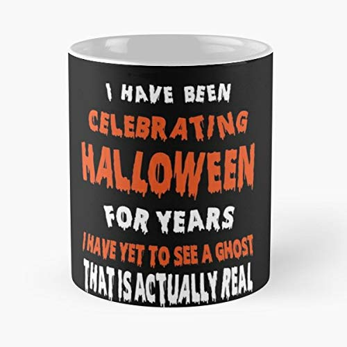 Ghosts Are Not Real Ghost Quotes Halloween Of - 11 Oz Coffee Mugs Unique Ceramic Novelty Cup, The Best Gift For Halloween.]()