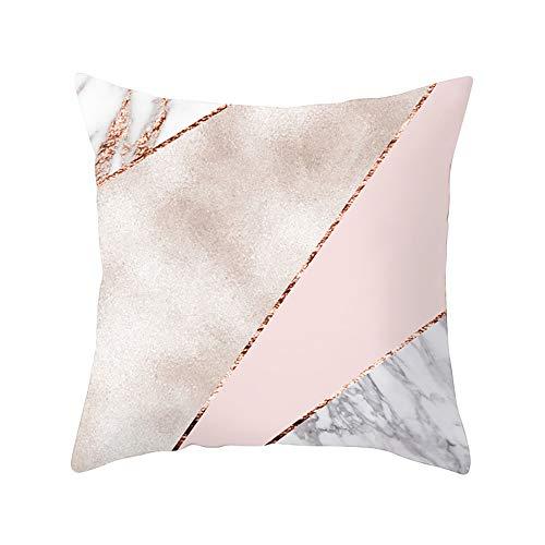 Dressin Geometric Pillow Case Waist Cushion Cover Comfortable Soft Sofa Home Decor ()