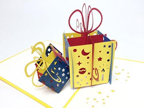 Creve 3D Popup Greeting Card Birthday Card Celebration Card Present - Present Cards