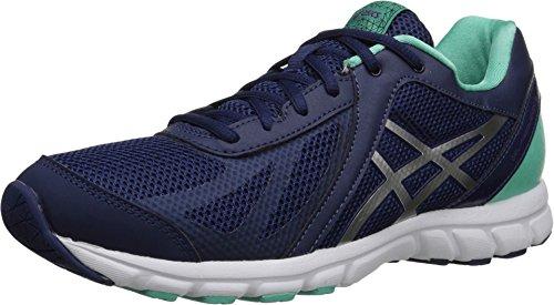 ASICS Women's Womens GEL-Frequency 3 Athletic Shoe, navy/silver/bermuda, 7.5 Medium - Navy Blue Bermuda