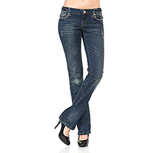 VIRGIN ONLY Women's Beautiful fade straight-leg