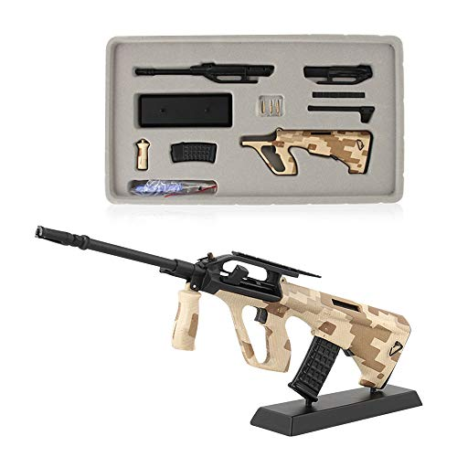 Fantarea 1/3 Metal Alloy Model Guns Figures Gun Miniature Education Learning Figurine,Party Supplies, Military Imitate Toys,Army Collection Fit for AUG Musket Gewehr (Gun Model)