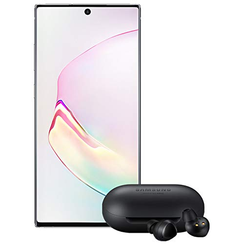 Samsung Galaxy Note 10+ Plus Factory Unlocked Cell Phone with 256GB (U.S. Warranty), Aura White/ Note10+ w/Galaxy Buds