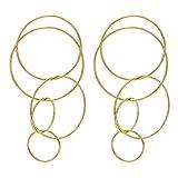 Rosemarie Collections Women's Large Multi Hoop Dangle Earrings