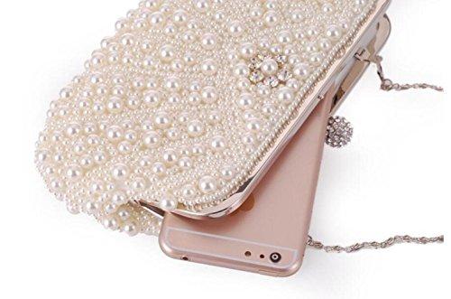 Shoulder Bag Evening Dress Bag Female style2 Clutch Bag Pearl WenL Chain BUf8E