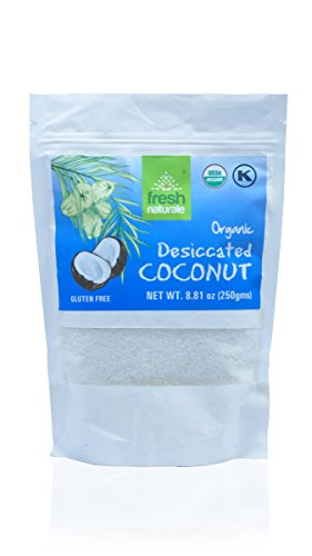 Organic Desiccated Coconut Flour 250 gms (8.81 oz) from Fresh Naturale. USDA , (Dessicated Coconut)