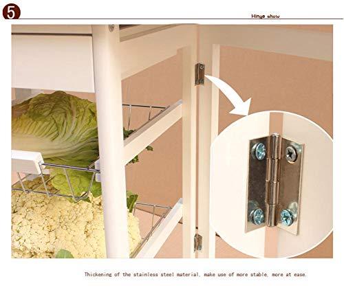 Per Kitchen Table Portable Folding Kitchen Rolling Tile Top Drop Leaf Storage Trolley Cart White