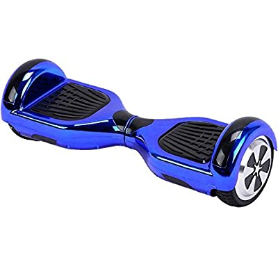 UL2272 Certified Bluetooth Capable Smart Self Balancing Hoverboard Personal Adult Transporter with LED Light- Chrome Blue by YongKang Dingchang &Trade Co Ltd