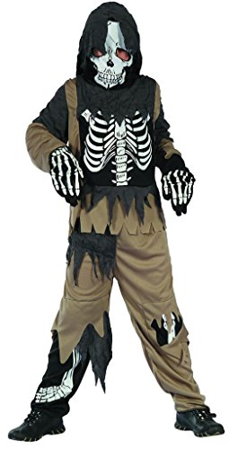 YOU LOOK UGLY TODAY Boy's Scary Skeleton Zombie Halloween Costume Halloween Party (Dry Cleaner Costume)