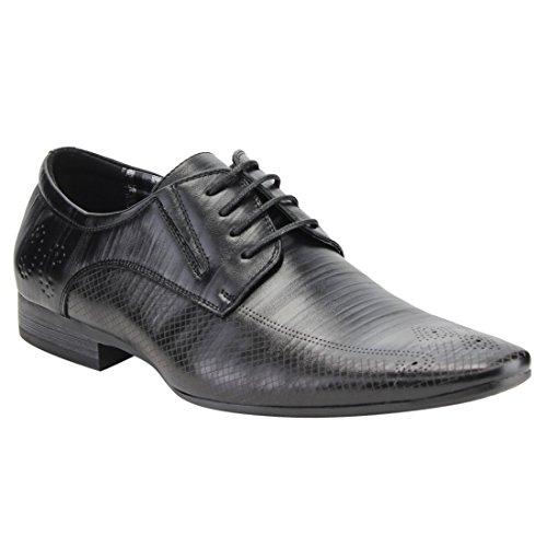 Uv Signature Fg02 Heren Geperforeerde Veter Oxford Schoenen Zwart
