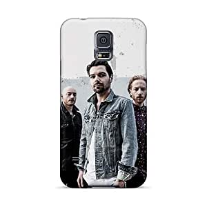 Shock Absorbent Hard Phone Covers For Samsung Galaxy S5 (TBH13371MfwL) Allow Personal Design Stylish Green Day Pattern