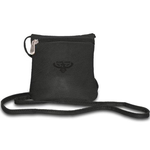 NBA Atlanta Hawks Pangea Black Leather Women's Mini Handbag by Pangea Brands