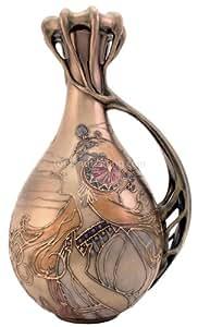 Art Nouveau Mucha Lady Vase
