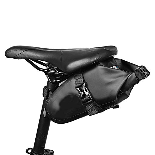 - Waterproof Mountain Road Bike Saddle Bag Bicycle Wedge Pack Rear Back Seat Bag Dry,Black