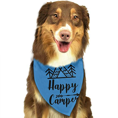 Pet Scarf Dog Bandana Bibs Triangle Head Scarfs Happy for sale  Delivered anywhere in USA