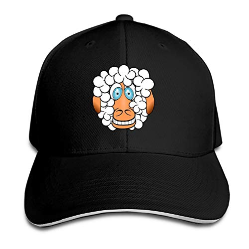 Otkftk Sheep Crazy Grinningal Baseball Cap Dad Hat Low Profile Adjustable for Men Women ()