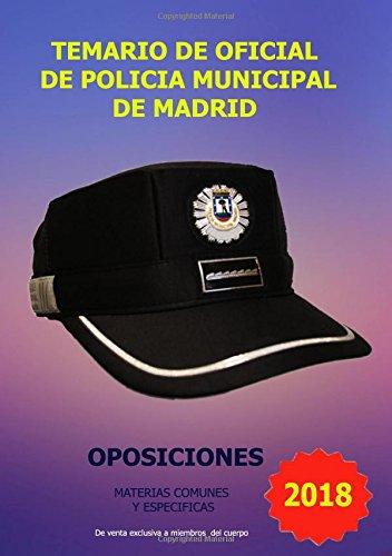 Temario de Oficial de Policia Municipal de Madrid: Amazon.es ...