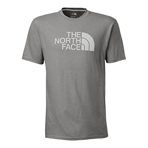 - The North Face Men's Short Sleeve Half Dome Tee, Medium Grey Heather/TNF White, XL