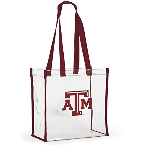 Desden Open Top Stadium Tote, Clear with Long Handles for Texas A&M Aggies Fans.