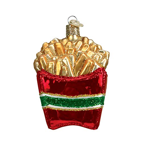 Personalized French Fries Glass Blown Christmas Ornament Tree Old World Christmas (Best French Fries In The World)