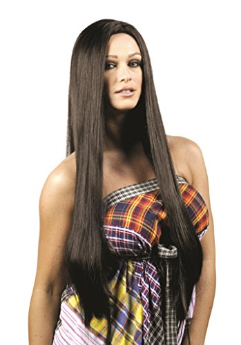 Premium Quality 1970's Cher Theatrical Halloween Costume Wig Brown ()
