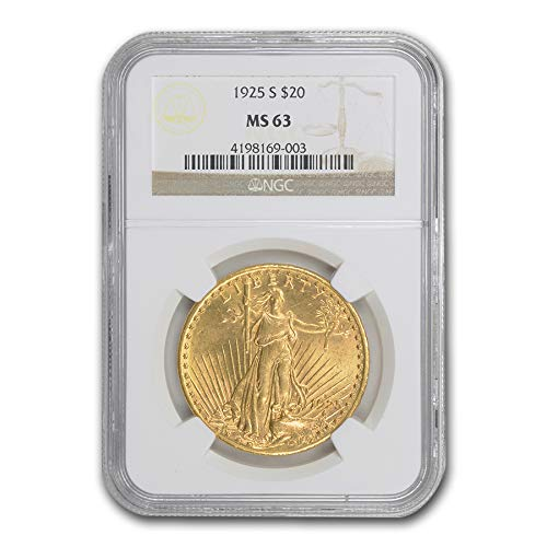 1925 S $20 Saint-Gaudens Gold Double Eagle MS-63 NGC G$20 MS-63 NGC