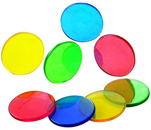Learning Advantage 7249 Four Color Transparent Counters, Grade: Kindergarten, 1