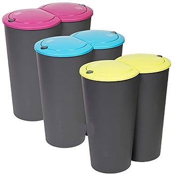 Recycling Mülleimer 50l doppel recycling mülleimer duo müll plastik karton verfügung