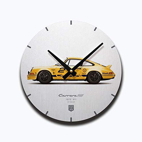 (GarageProject101 1973 Classic 911 Carrera RS (GP Edition) Illustration Wall Clock)