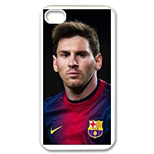 iphone4 4s White Lionel Messi phone cases&Holiday Gift
