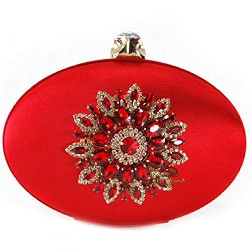 Para Única Bolso Dorado Mujer De Heiplaine Oro Tela Rojo Talla OBHqHxt