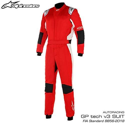 alpinestars GP TECH v3 SUIT Red White 48サイズ FIA8856-2018公認モデル アルパインスターズ レーシングスーツ 3354020-32-48