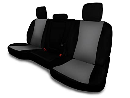 Incredible Carscover Custom Fit 2014 2019 Toyota Tundra Pickup Truck Neoprene Car Rear 60 40 Seat Covers With Armrest Gray Black Sides Pabps2019 Chair Design Images Pabps2019Com