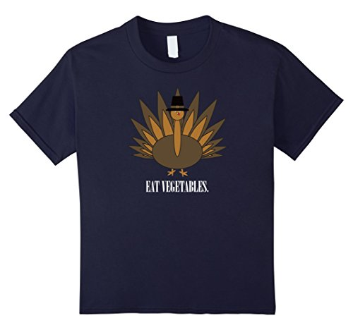 Kids Turkey - Eat Vegetables T-Shirt 8 Navy