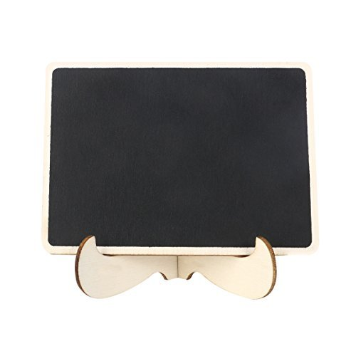 ROSENICE Mini Chalkboard Easel Wooden Miniature Blackboard Sign with Stand Message Board
