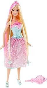 Barbie - Muñeca, Princesa Peinados mágicos, Color Rosa (Mattel DKB60)