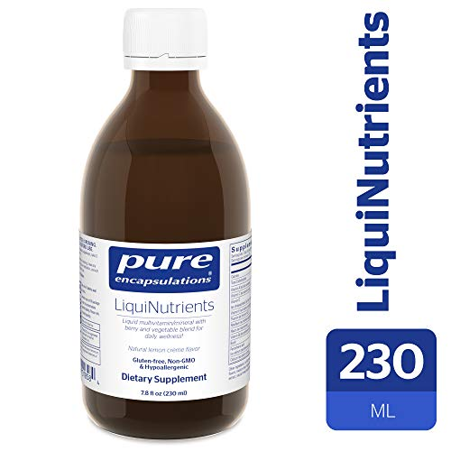 Pure Encapsulations - LiquiNutrients - Liquid Multivitamin/Mineral Complex Enhanced with Organic Fruits and Vegetables for Daily Wellness - Natural Lemon Crème Flavor - 7.8 fl oz (230ml)